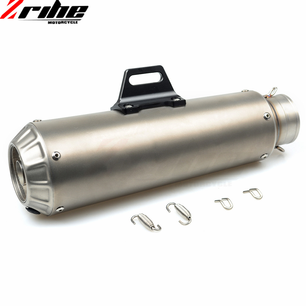 For 51mm Motorcycle Exhaust Pipe Scooter Modified Muffler Pipe Universal For KTM 640 LC4 Supermoto 200 390 DUKE Z800 Z900 Z750