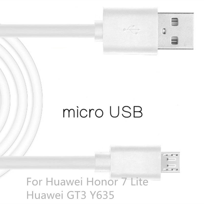 Micro USB Cable Fast Charging Mobile Phone USB For Huawei Honor 7 Lite Huawei GT3 Y635 Android Charger Cable 1M Data Sync Cable