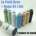 GPL Le Petit Gros hobo v2.1 rda kit furo grande ponta de gotejamento clone Tuto Petit Gros Cobre preto branco azul de tiffany 22mm 18350 mech mod