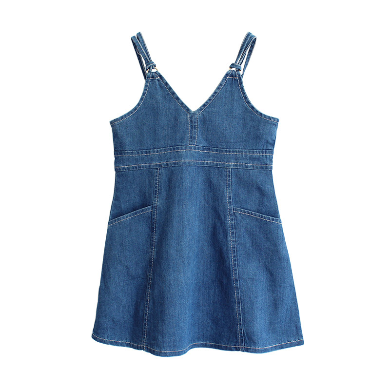 ZYYGL blue dress skinny girl dress fashion college casual drape jeans dress for children clothing little baby clothes рубашка insight college perve eshay blue