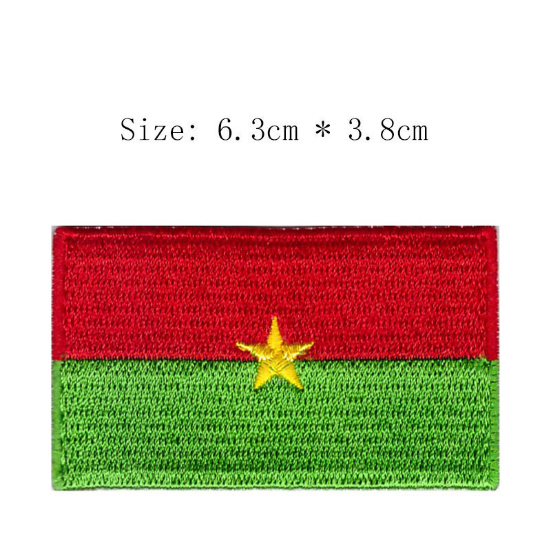 BURKINA FASO Flag Embroidered PATCH Badge