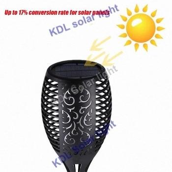 4pcs/lot Solar 96LEDs Lawn Dancing flame Torch Lights radar 3 working mode LED  Flame flameing up landscape garden cam