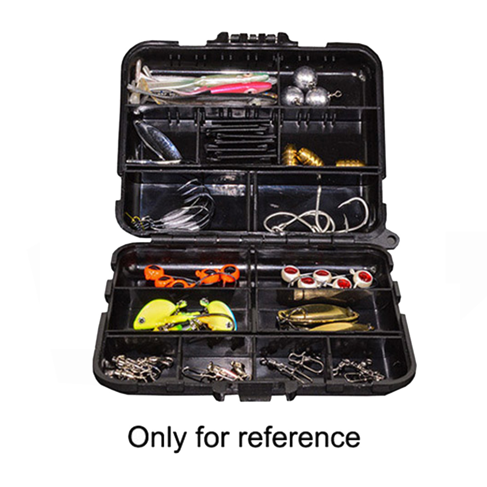 12cmX10cmx3.4cm Practical Double Layer Lure Box Hard Plastic Fishing Bait Case Fishing Tackle Tool Container