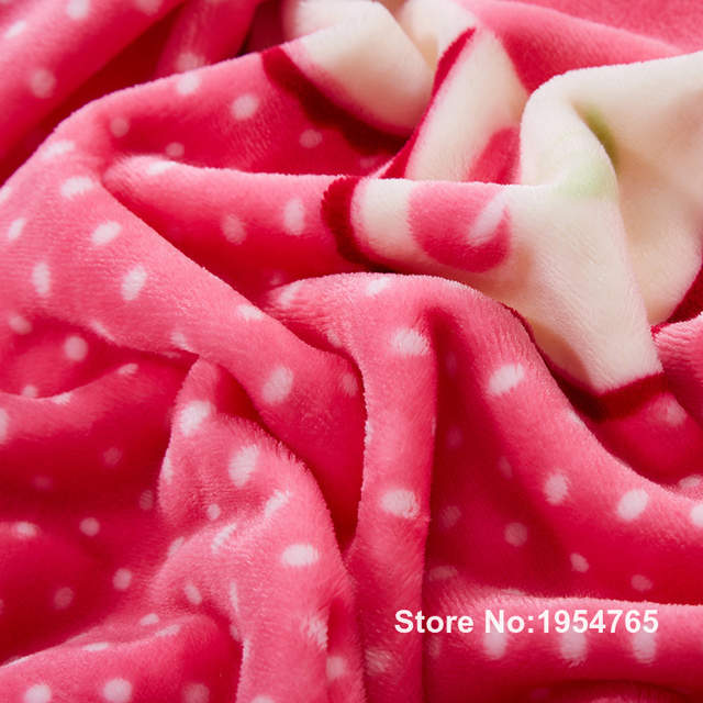 Online Shop Flower Cartoon Soft Blankets Pink Cloud Mink Cashmere