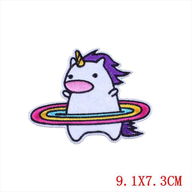 Us 0 57 31 Off Prajna Unicorn Patches Cartoon Embroidery Patch Rainbow Horse Cute Sew On Badges Kids Clothing Diy Stickers For Clothing Decor In
