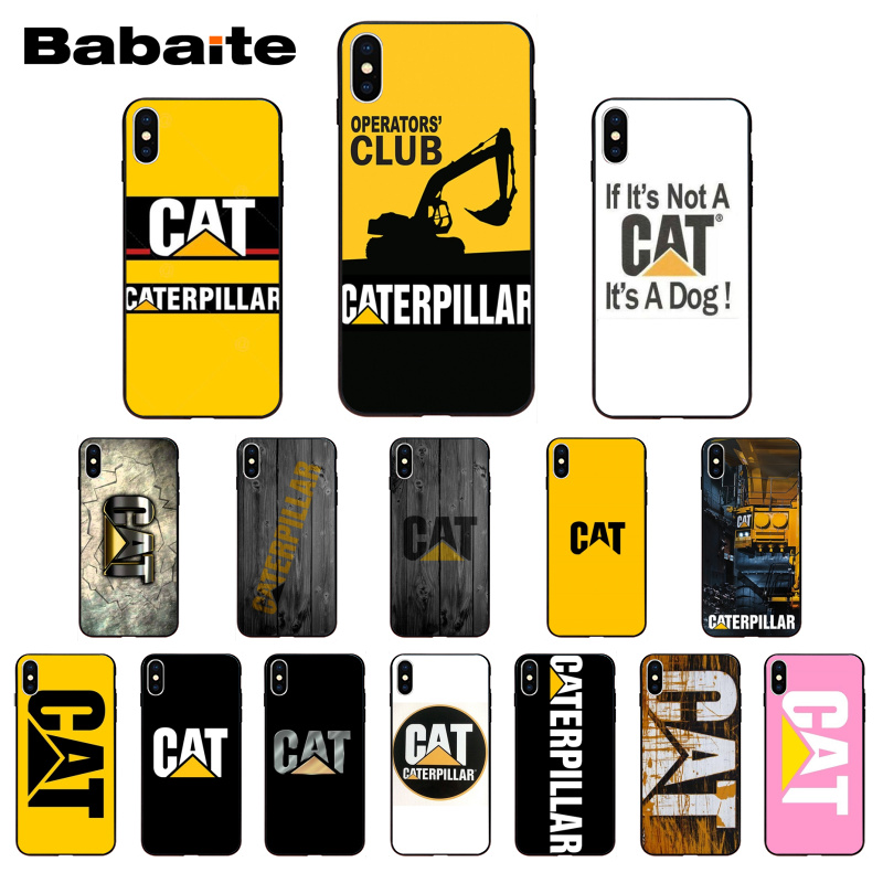 buy popular 68a5a 222d0 US $1.01 22% OFF|Babaite Caterpillar logo Novelty Fundas Phone Case Cover  for iPhone 8 7 6 6S Plus X Xs Xr XsMax 5 5S SE 5c Coque-in Half-wrapped  Case ...