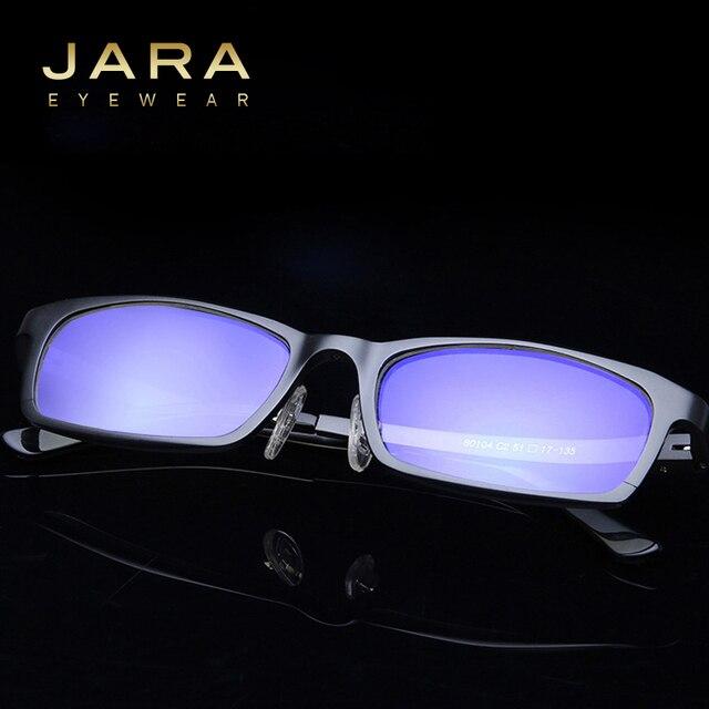 87b8b47aee829 JARA Men Titanium UV400 Eyeglasses Classic Brand Computer Glasses Anti-blue  Ray Defending Coating Lens