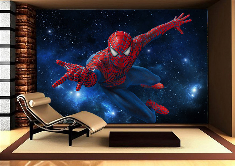 Custom Super Hero Wall Mural Spider Man Photo Wallpaper Silk Large Art Room Decor Ceiling Bedroom Kid S In Wallpapers From Home