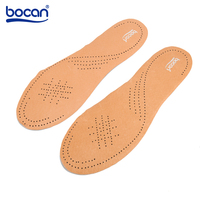 Bocan Genuine Leather Insoles First Layer Pigskin Sweat Absorption Breathable Insoles For Leather Shoes