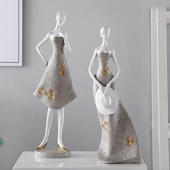 Ceramic Literary girl ornaments creative living room wine cabinet decor crafts home decor Girlfriend wedding gifts furnishings
