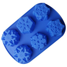 Silicone 6-Cavity DIY Cake Decorating Mould Candy Cookies Chocolate Baking Mold
