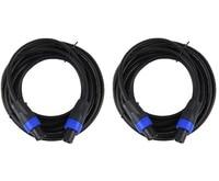 STARAUDIO 2Pcs New Speakon To Speakon 25 Ft 7 5M True 18 Gauge Wire AWG DJ
