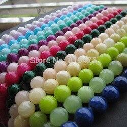 Perles de pierre de 10mm teintes perles de mode multicolores pour accessoires de fabrication de bijoux