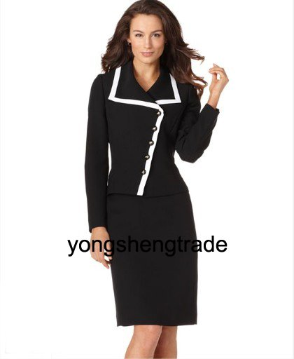 Women Suit, New Arrival Women Suits , Asymmetrical Button Jacket & Skirt, Accept   452