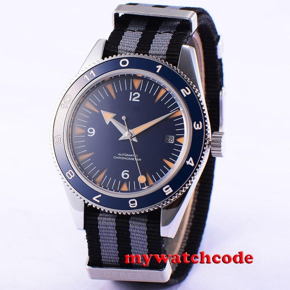 41mm Debert Blau Zifferblatt Saphirglas Miyota 821A Automatikwerk mens watch uhr бордюр blau versalles mold michelle 3 5x25