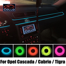 Гибкий Неон Холодный Свет/9 М EL Провода Для Opel Cascada/Cabrio/Tigra/Tigra TwinTop B/Консоль Автомобиля Декоративные газа