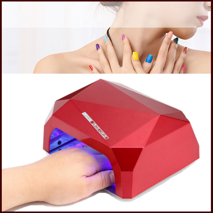 Sensor! 1PCS Green/Yellow 36W  Dimond LED+CCFL nail dryer 10Sec 30s 60s quick-drying lamp EU,US plug for choice!For O.P.I UV Gel shanghai kuaiqin kq 5 multifunctional shoes dryer w deodorization sterilization drying warmth