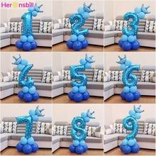 Heronsbill 1st 1 2 3 4 5 6 7 8 9 lat wszystkiego najlepszego z okazji urodzin balony foliowe cyfry Baby Boy dziewczyna Party dekoracje artykuły dla dzieci 2nd 3rd