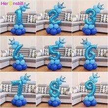 Heronsbill 1st 1 2 3 4 5 6 7 8 9 שנים שמח יום הולדת רדיד מספר בלוני תינוק ילד ילדה ילדי אספקת 2nd 3rd