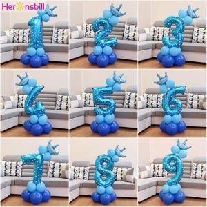 Image 1 - Heronslei 1, 2, 3, 4, 5, 6, 7, 8, 9 anos, feliz aniversário, folha de número, balões, bebê, menino e menina decorações de festa crianças suprimentos 2ª 3ª