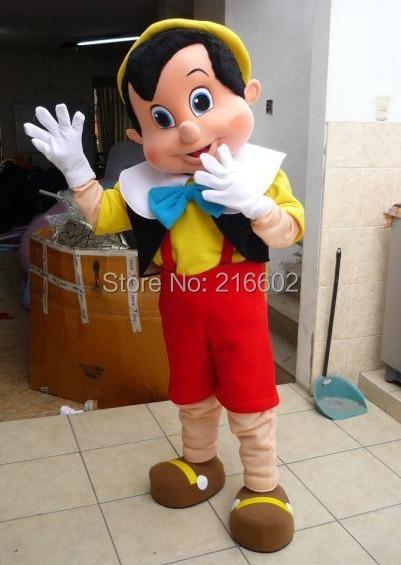 Pinocchio maskot kostyumu böyüklər üçün Halloween xülya geyim - Karnaval kostyumlar - Fotoqrafiya 2