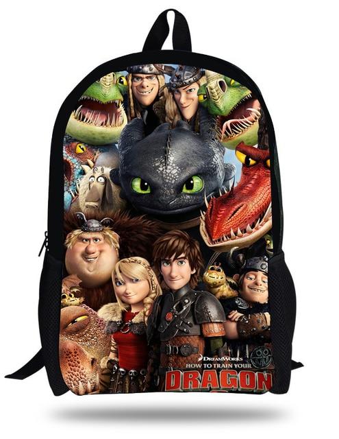 1d424c1af6d2 16-inch Primary School Bag How to Train Your Dragon Backpack Kids Boys  Cartoon Bags Children Mochilas Escolares Infantis