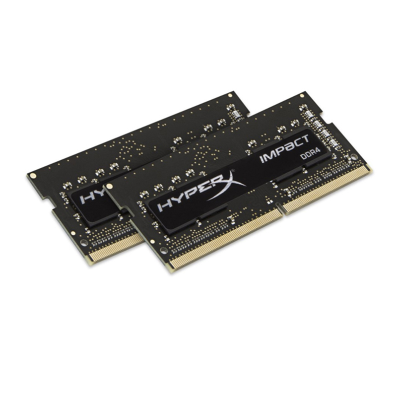 HyperX Impact 8 GB DDR4 2133 MHz Kit, 8 GB, 2x4 GB, DDR4, 2133 MHz, 260-pin SO-DIMM, Negro