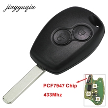 jingyuqin 2 Buttons Remote Control Key Cover Case For Renault Duster Modus Clio 3 Twingo DACIA
