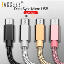 !ACCEZZ Newest Micro USB B Cable For Samsung Galaxy S7 S6 Xiaomi Redmi Android