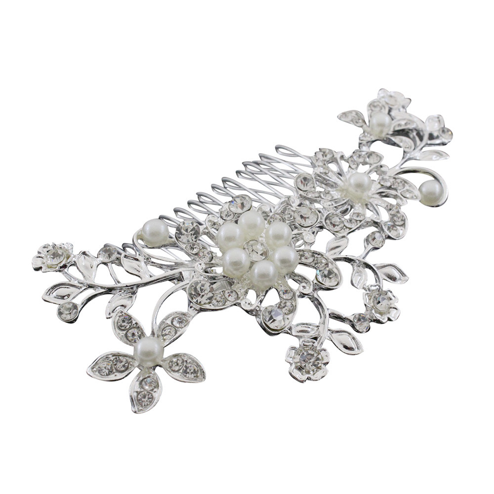 snowshine YLW Fashion Hair Flowers Comb Clip Bridal Gowns Rhinestones Comb Hairpin freeshipping