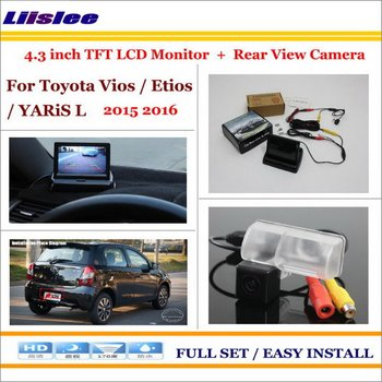 Auto Camera For Toyota Vios Etios YARiS L 2015-2016 Car Rearview Camera 4.3 LCD Screen Monitor Parking System image