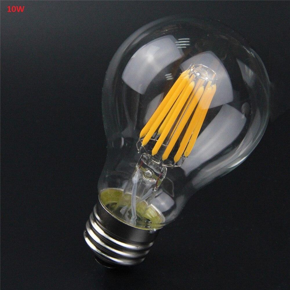 E27 E26 Retro A60 A19 LED Filament Bulb Light 8W 10W Edison Vintage Ampoule Bubble Ball Lamp 110V 120V 220V 240V Indoor Lighting