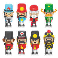 Micro Diamond Building Blocks Japanese Irish Soldier Series Figures Mini Great British Little Soldier Blocks Toys For Kids Gift