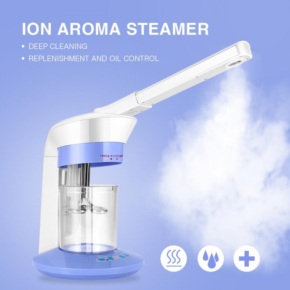 2 dans 1 Ozone Vapeur Facial Visage Pulvérisateur Ion Vaporisateur Vapeur Pour Hydratant Soins de La Peau Machine Brouillard Visage Pulvérisation Beauté dispositif