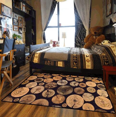 Tapis imprimé par modèle en bois de Style américain adapté aux besoins du client pour le salon tapis de cuisine tapis absorbant antidérapant de couloir décor à la maison