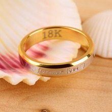 Fashion beautifully crafted commitment of time Forever Love Lovers Couple Matching Ring Steel Finger Ring Jewelry Hot !