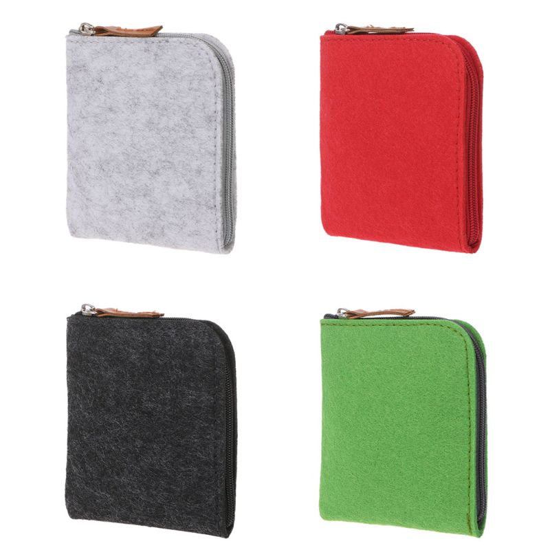 Hot New Women Men Unisex Cute Felt Fashion Small Coin Purse Wallet Unisex Casual Mini Bag Change Pouch Key Card Case Holder