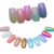 13 Cajas/Set Mermaid Clavo En Polvo Brillo Espejo Polvo Del Clavo de la Decoración #00165
