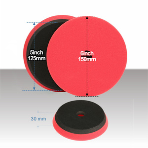 Image 4 - SPTA Compound Polishing Pads for 5 inch Polisher Buffing Buffer Pad Set For DA / RO Dual action Car Polisher Sander Select Color