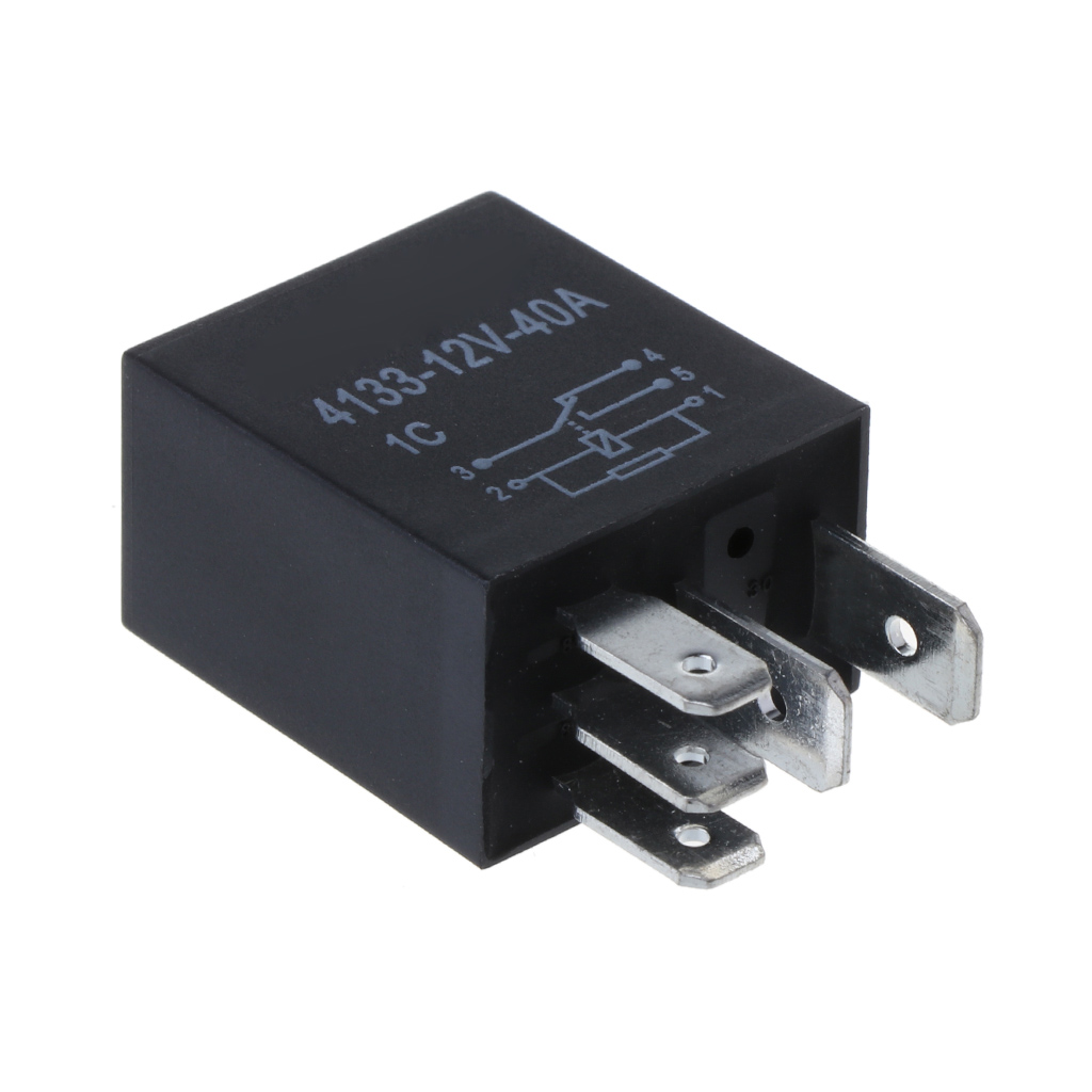 Automotive 12v 40a 5 Pin Relay Long Life Time Delay