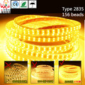SMD LED Strip light  2835 double upgrade 1M156 light bead LED flexible light 110V-240V color choices Waterproof background light