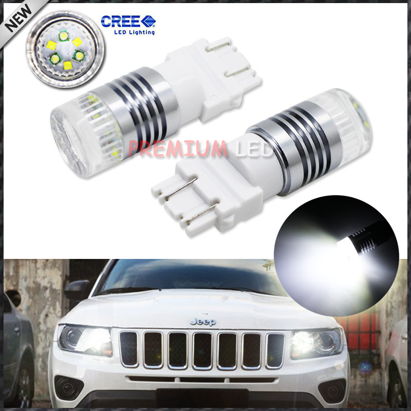 iJDM 1200 Lumens Super Bright  Chipsets 3156 3157 T25 3155 LED Bulbs For 2011-up Jeep Compass For Daytime Running Lights ijdm hid white 15 smd 3535 powered 3157 t25 led bulbs for daytime running lights drl for 2011 and up jeep grand cherokee 6000k