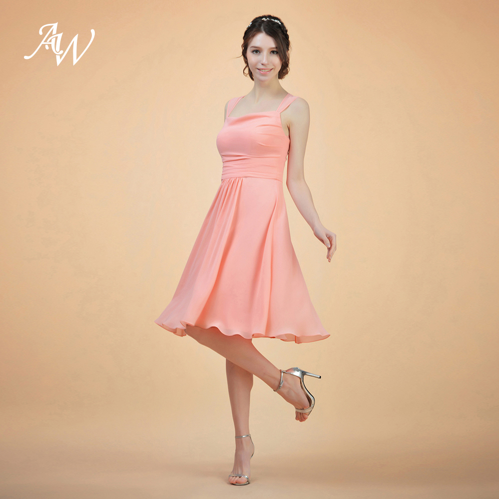 AW Short Bridesmaid Dress Back Keyhole Wedding Party Prom Gown-in Bridesmaid  Dresses from Weddings   Events on Aliexpress.com  9fa473b85e0a