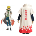 Hot Anime Naruto Cosplay Costumes Fourth Hokage Namikaze Minato Cape Outfit Cosplay Cloak,Top Quality Free Shipping