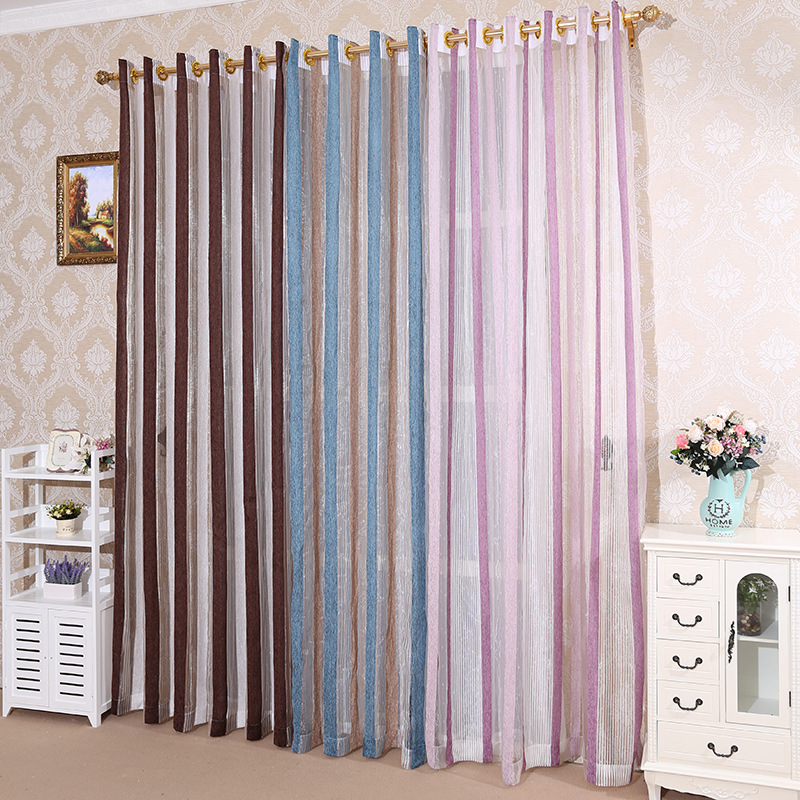 Image 2 - Quality Rome curtains,curtains,vertical screens,living room bedroom, silver stripes, silver screens, yarn dyed jacquard curtains-in Storage Bags from Home & Garden