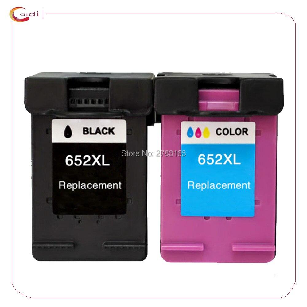 2Pack For HP 652 XL Ink Cartridges For HP 652 DeskJet ink advantage 1115 2135 3635 1118 2138 3636 3638 printer