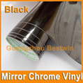Free shipping 1.52x30m high quality mirror chrome vinyl with air bubble free black red green blue purple gold silver car sticker