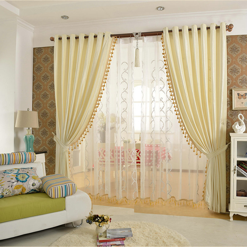 Luxury Solid Color Beads Curtain for Bedroom Blackout Curtain Eco friend for Living Room Golden/Purple/Ivory/Smokey Grey velvet