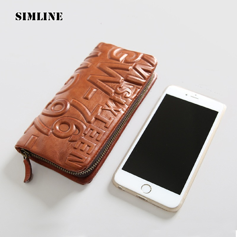 Luxury Brand Vintage Fashion Genuine Leather Cowhide Men Women Unisex Long Zipper Wallet Wallets Purse Clutch Bag Coin Pocket hot sale women wallets fashion genuine leather women wallet knitting zipper women s wallet long women clutch purse