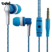 3.5mm New In-Ear Stereo Earbuds Braided Rope Line Wired Earplugs Earphone Headset Mic For Cell Phone MP3 Computer(China)